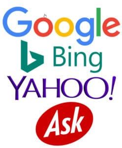 Search Engines Bing Ask Yahoo Google