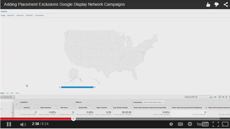 Placement Exclusions in Google Display Network